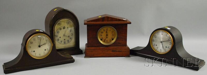 Four Assorted Mantel Clocks