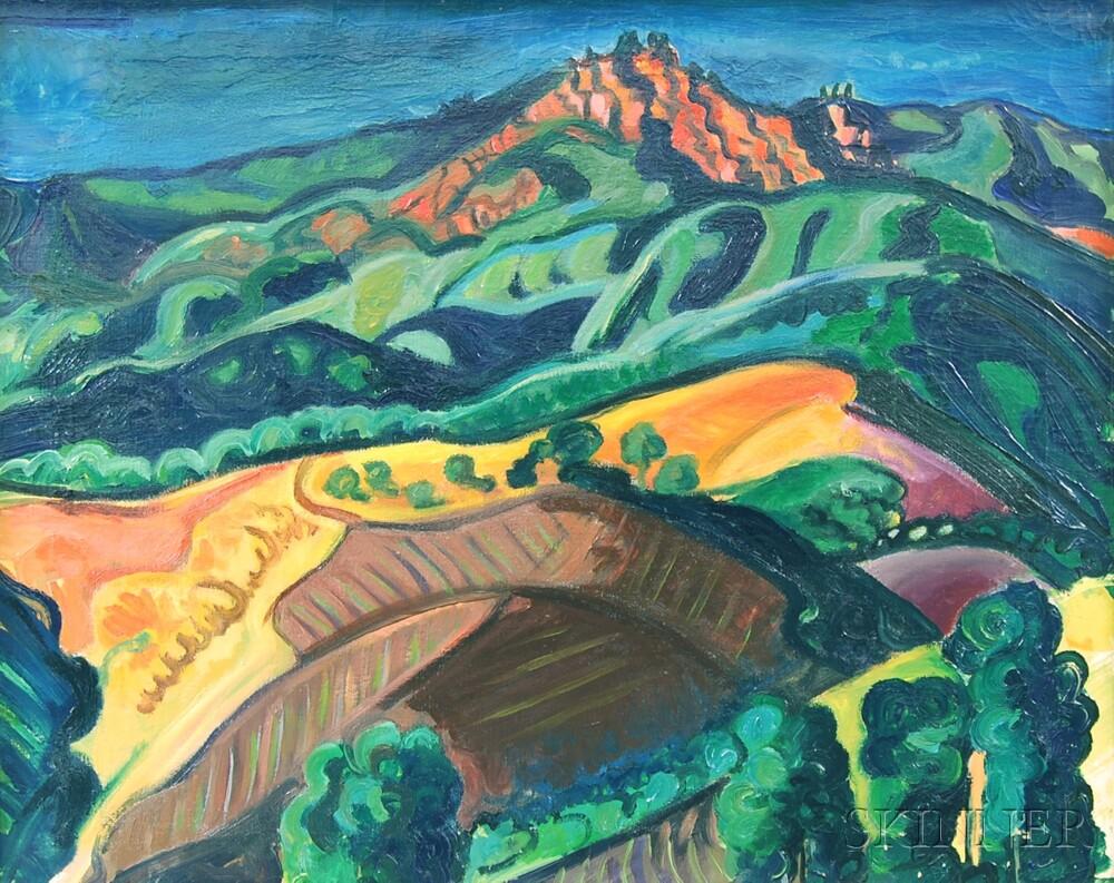 Warren A. Newcombe (American, 1894-1960)      Santa Barbara Landscape.