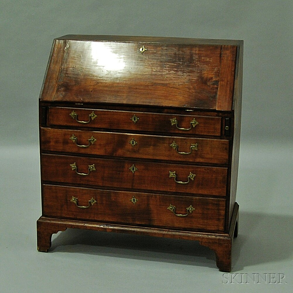 Chippendale Cherry Slant-lid Desk
