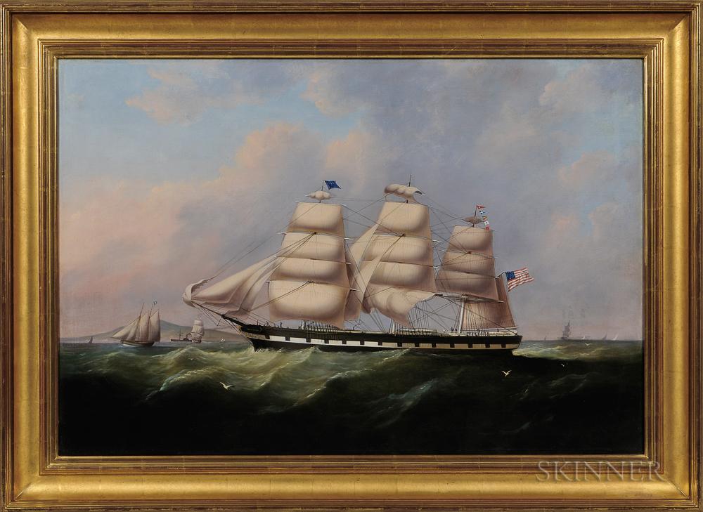 Samuel Walters (British, 1811-1882)      Sam Dunning   in Beaumaris Bay near Point Lynas Lighthouse