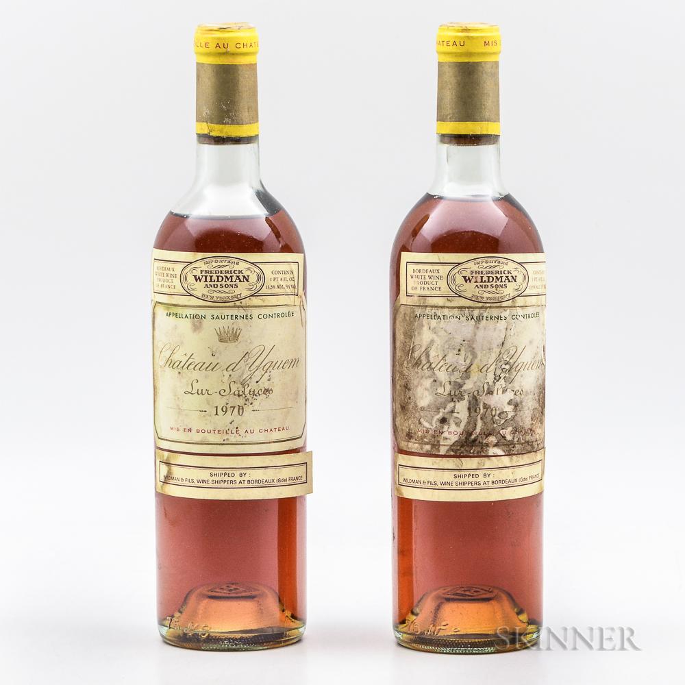 Chateau dYquem 1970, 2 bottles