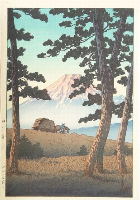 Hasui: Evening at Tago-no-Ura