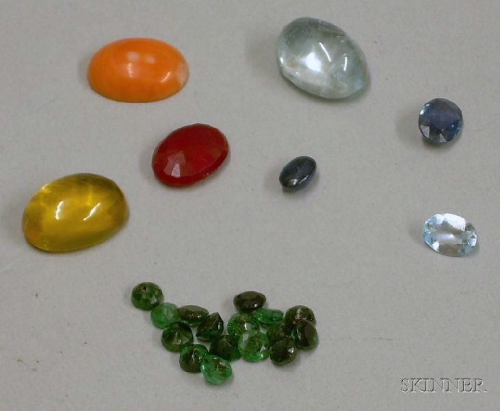 Assorted Loose Cut and Cabochon Stones.