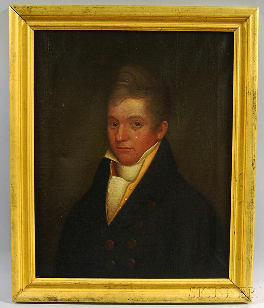 American School, 19th Century       Portrait of Joseph Moore.