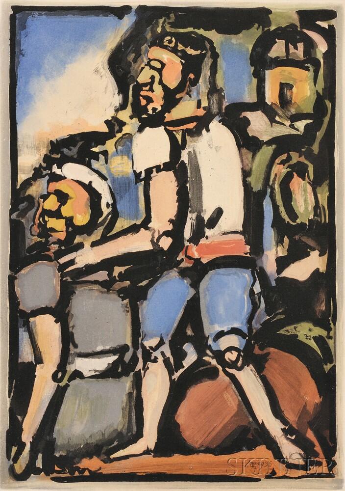 Georges Rouault (French, 1871-1958)      Homme conduisant un autre