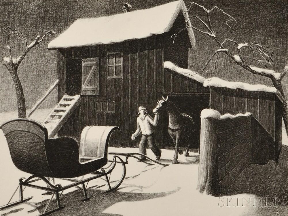 Grant Wood (American, 1891-1942)      December Afternoon