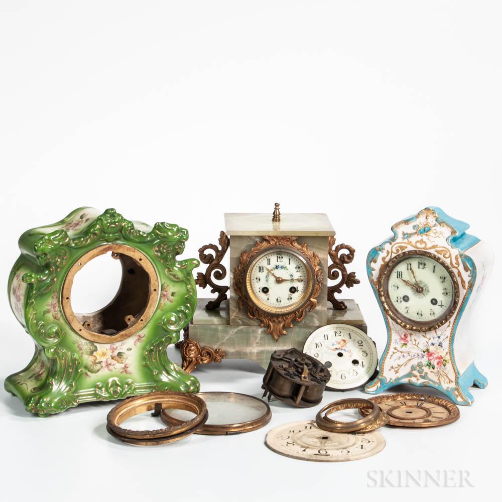 Three Shelf Clocks
