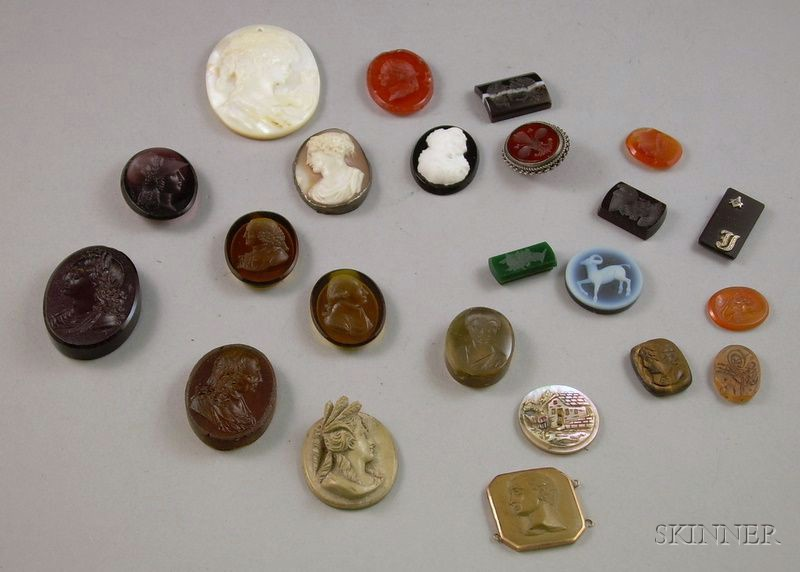 Assorted Loose Unmounted Cameos, Intaglios and Tablets.