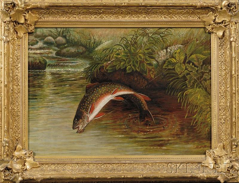 American School, 19th Century      Brook Trout Fishing.