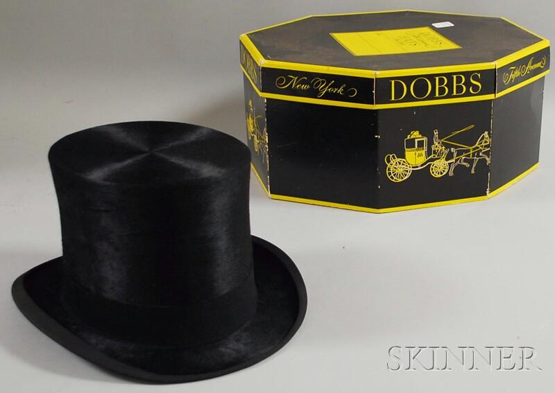 Men's Dobbs Black Fur Top Hat in Original Box