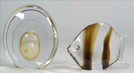 Two Art Glass Sculptures