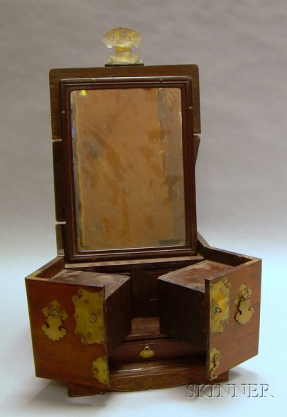 Chinese Brass-mounted Hardwood Dressing Chest.