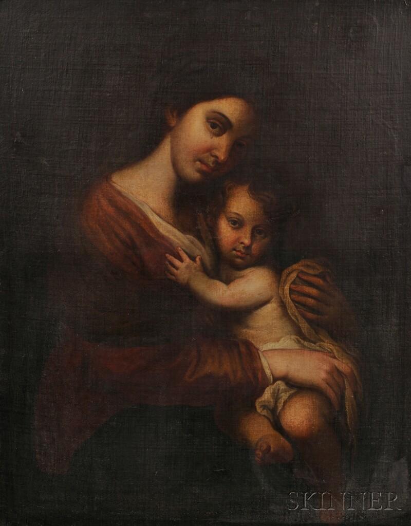 Spanish School, 19th Century      Madonna and Child