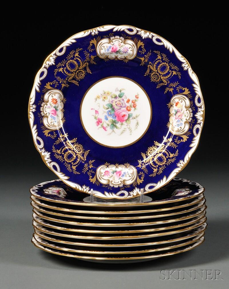 Set of Ten Copeland Plates