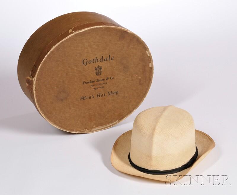 Men's Panama Straw Hat in Original Box
