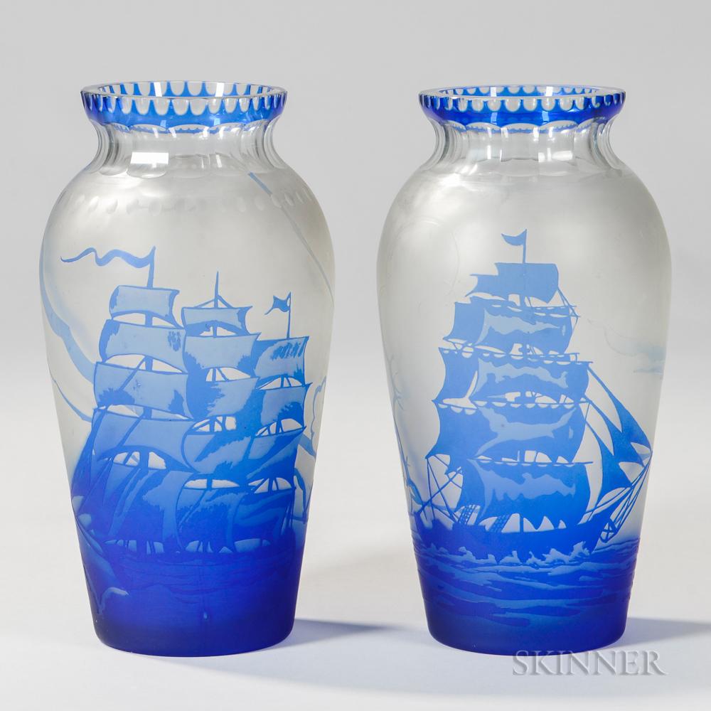 Two Nautical Vases