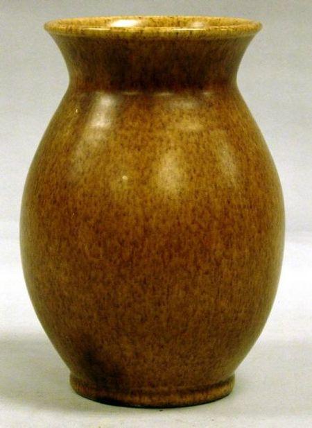 Torquay Pottery Brown Glazed Vase.