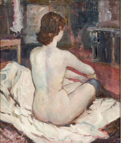 American School, 20th Century      Seated Nude