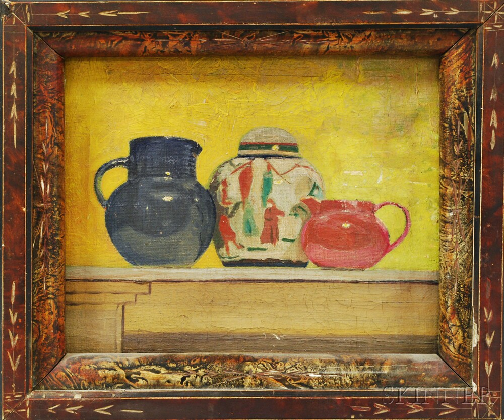 American School, 19th/20th Century       Still Life with Pitchers