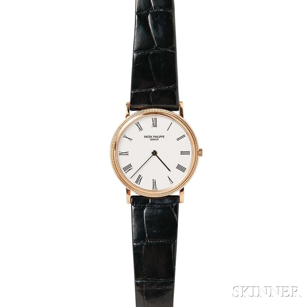 "18kt Gold ""Calatrava"" Wristwatch, Patek Philippe"
