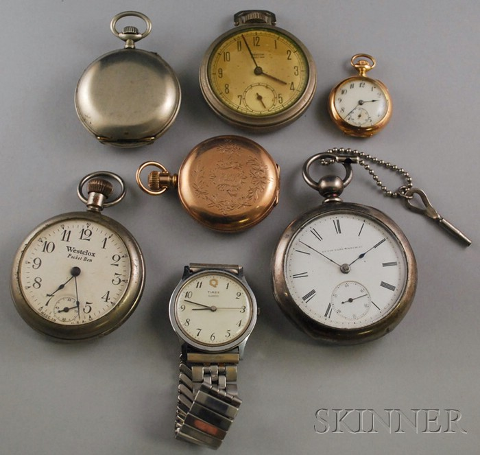 Group of Mostly Pocket Watches