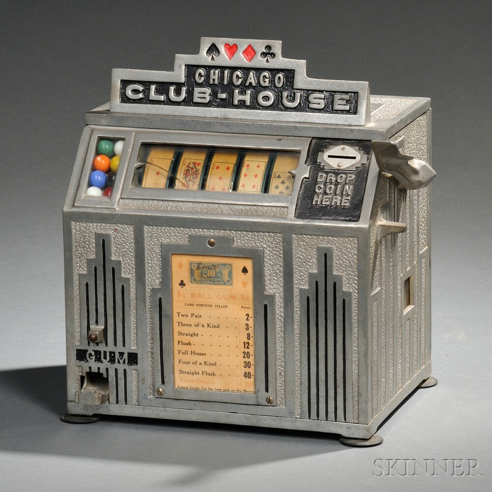 """""""Chicago Club-House"""" Coin-operated Slot Machine"""