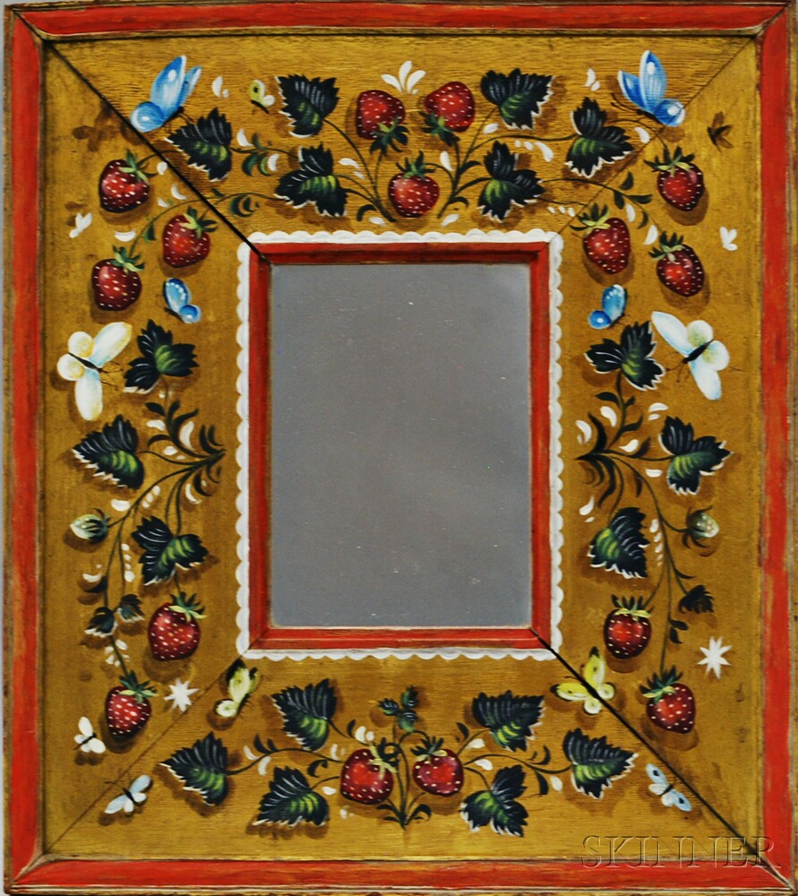 Paint-decorated Mirror
