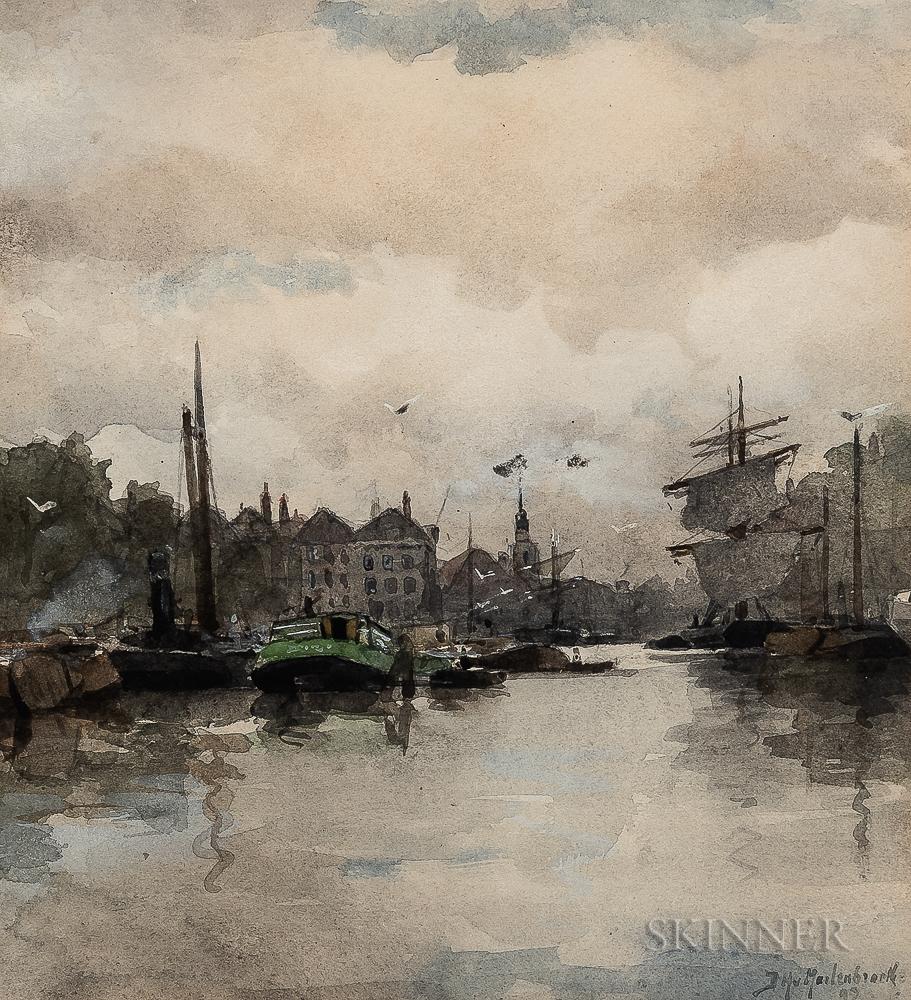 Johan Hendrik van Mastenbroek (Dutch, 1875-1945)      Dutch Canal Boats