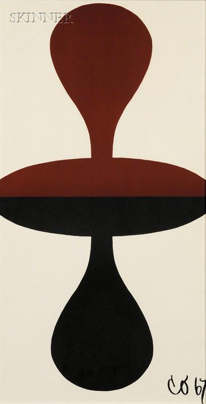 Claes Oldenburg (Swedish/American, b. 1929)      Double Punching Bag/Poster