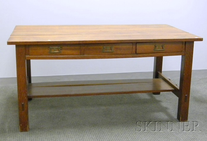L. & J. G. Stickley Oak Library Table