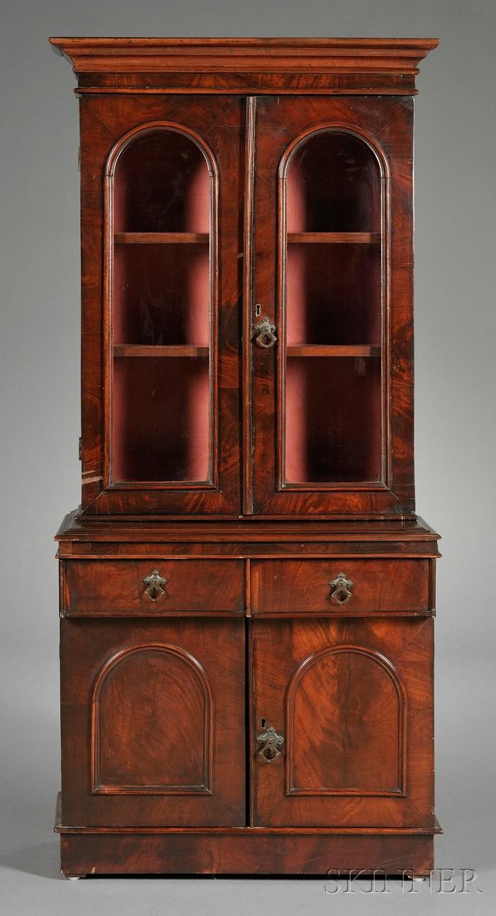 American Classical Mahogany Miniature Bookcase Cabinet