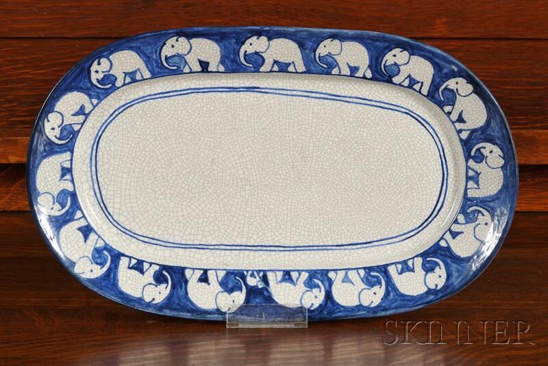 Dedham Pottery Elephant Platter