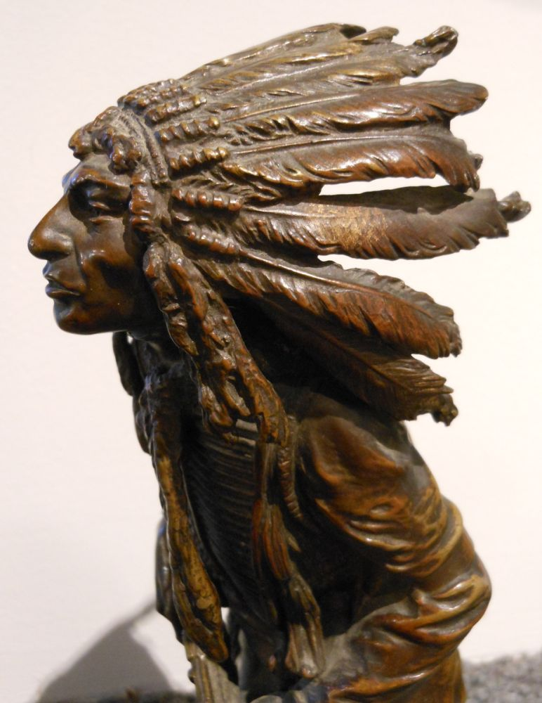Carl Kauba (Austrian/American, 1865-1922)      Native American with a Rifle