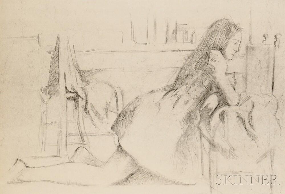 Balthus (French, 1908-2001)      Jeune fille agenouillée