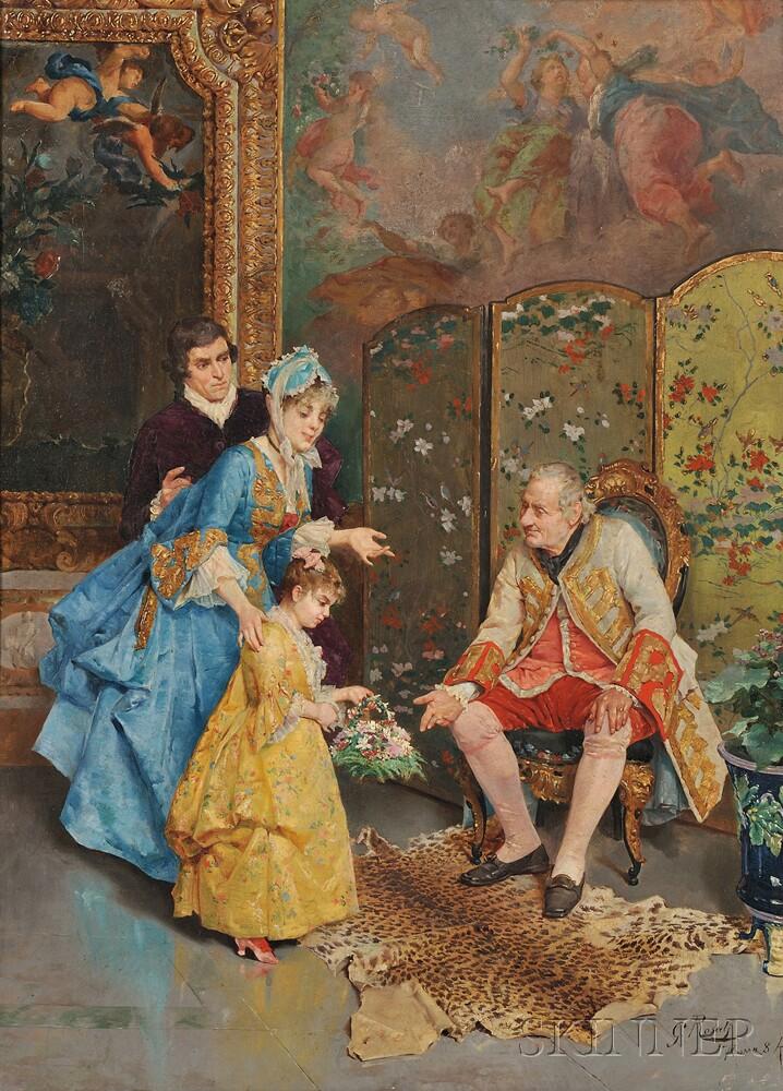 Giulio Rosati (Italian, 1858-1917)      The Presentation