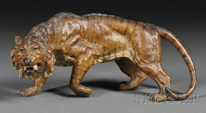Cold-painted Spelter Tiger