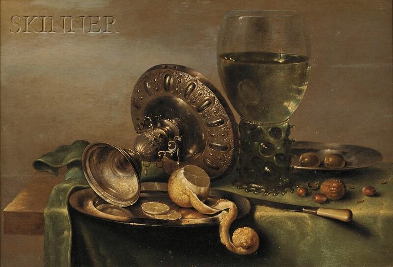 Willem Claesz Heda (Dutch, 1594-c. 1680)      Still Life with Tazza, Peeled Lemon, and Roemer