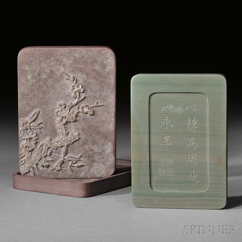 Duan Inkstone in Yixing Covered Case