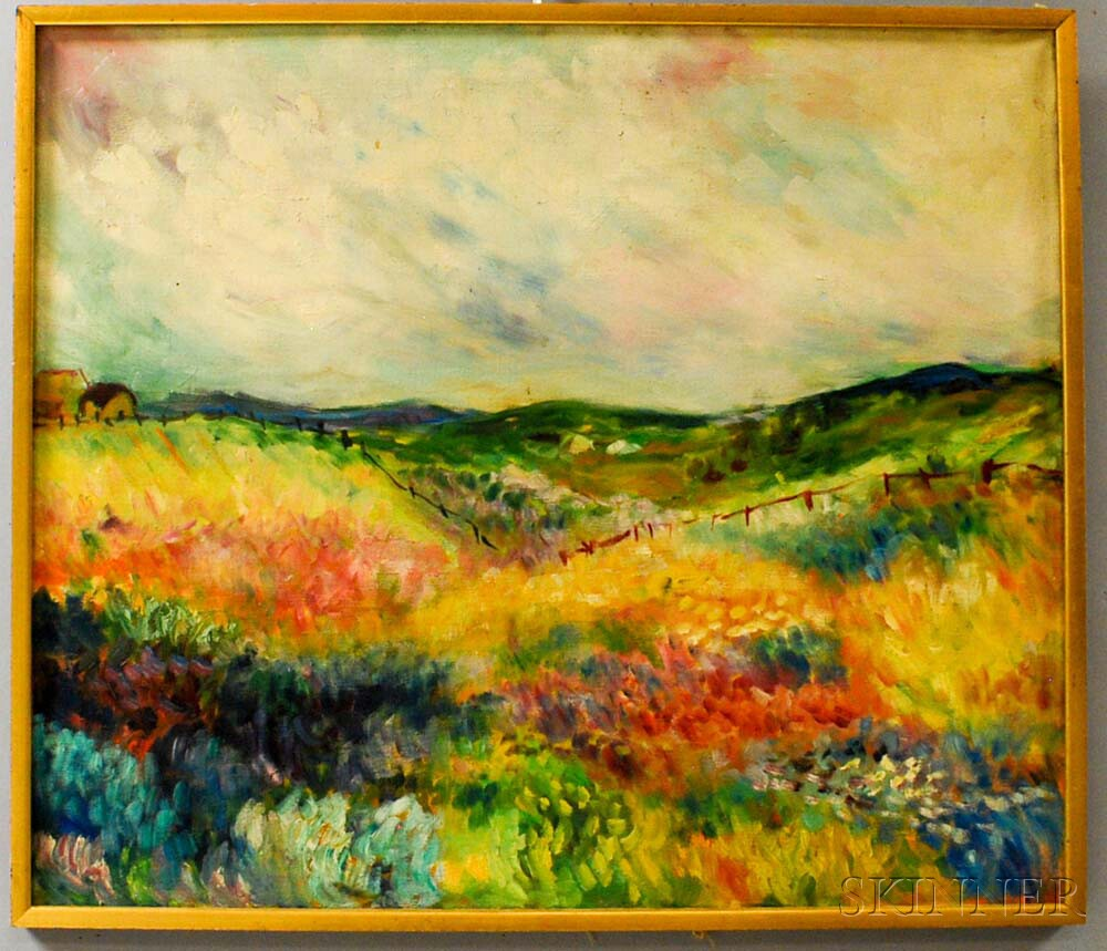Laurence Warshaw (American, b. 1939)      Meadow Landscape, Maine.