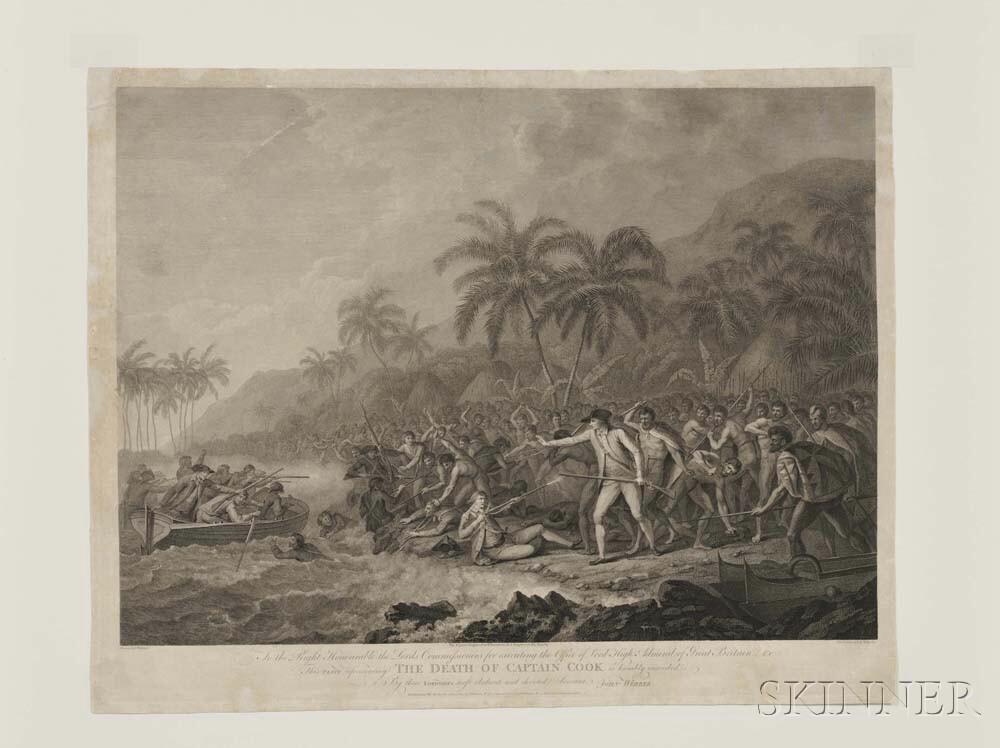 Webber, John (1751-1793) The Death of Captain Cook.