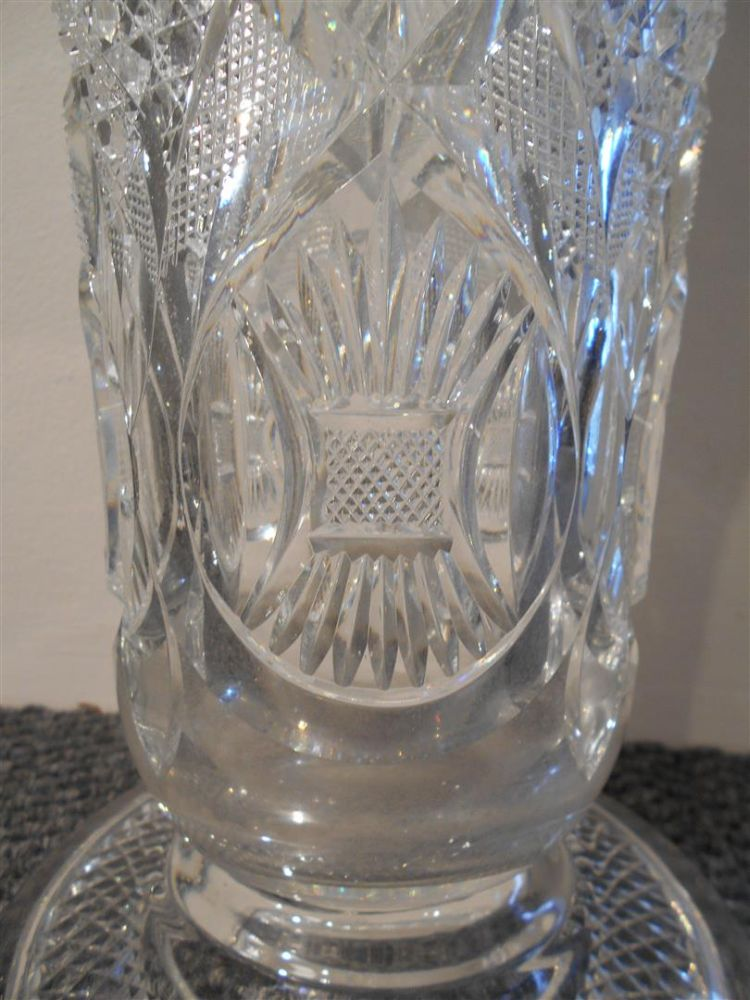 Webb Cut Glass Vase