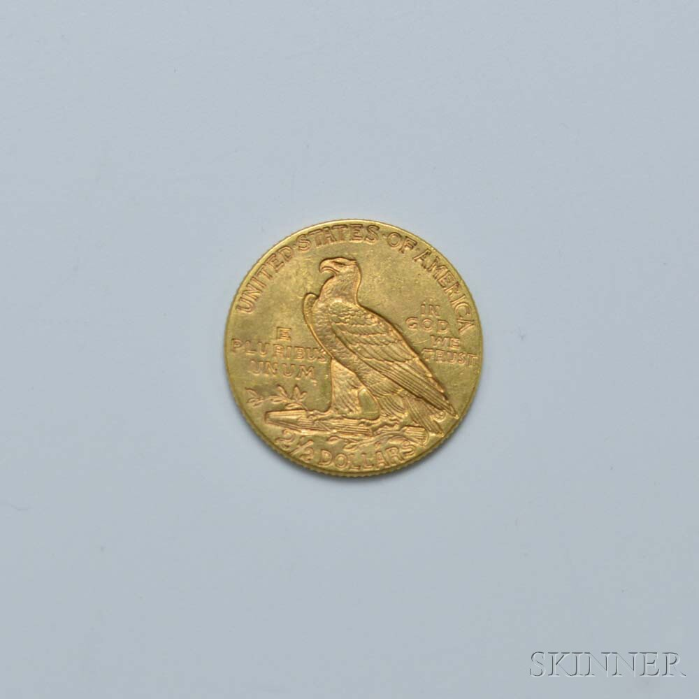 1914 $2.50 Indian Head Gold Coin.     Estimate $200-300