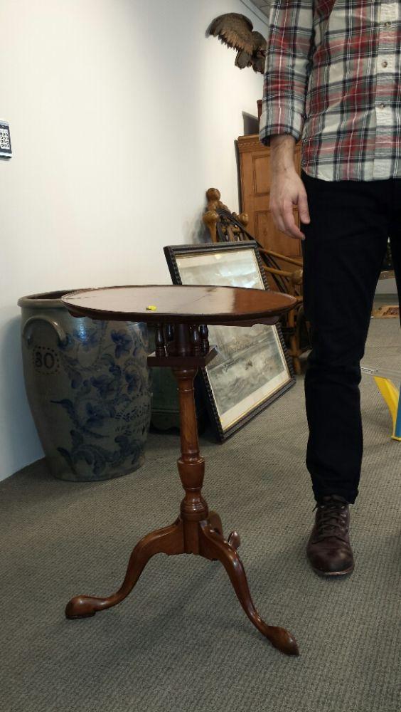 Walnut Tilt-top Candlestand