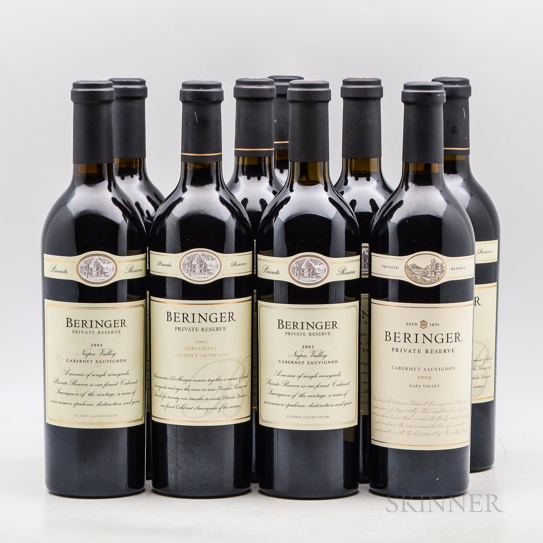 Beringer Vineyards Cabernet Sauvignon Private Reserve, 9 bottles