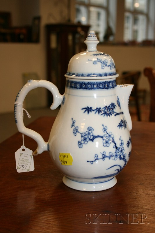 Nanking Blue and White Porcelain Hot Milk Jug and Cover