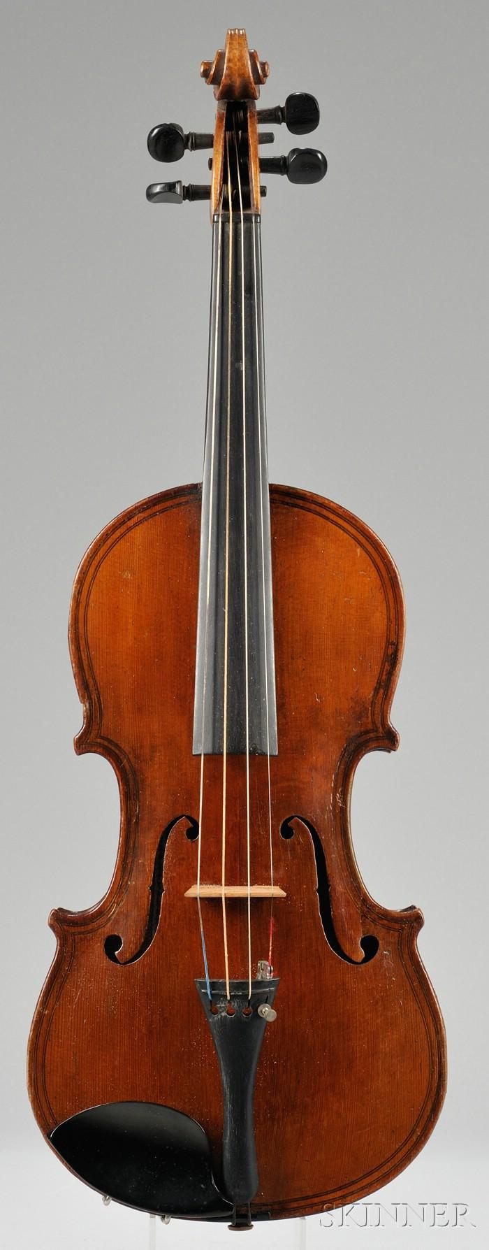 Markneukirchen Violin, Oskar Bernard Heinel, 1903