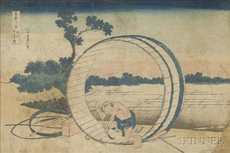 Hokusai: Fujimigahara in Owari Province