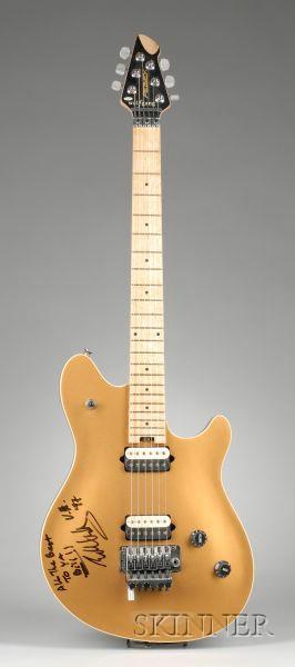 Edward Van Halen Signed Electric Guitar, Peavy Electronics, Meridian, 1969, Prototy e Model EVH Wolfgang, ...