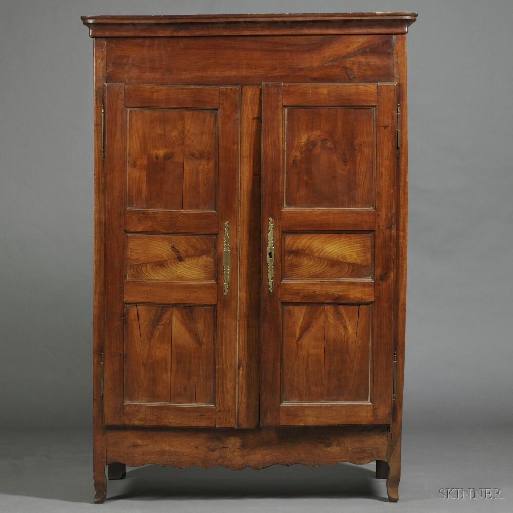 Louis XV-style French Provincial Cherry Armoire