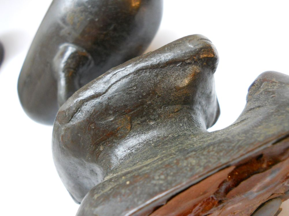 Pair of Bronze Duck-shaped Covered Censors